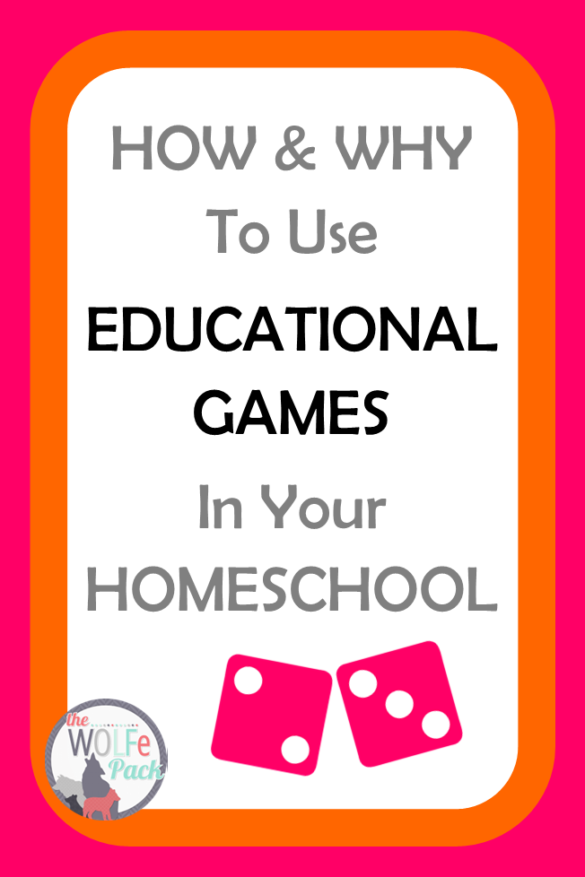 Why use educational games in your homeschool and which ones to use