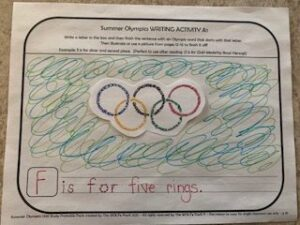 Writing Activity for Summer Olympics by The WOLFe Pack